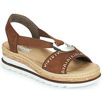 Schuhe Damen Sandalen / Sandaletten Rieker FARRO Braun,