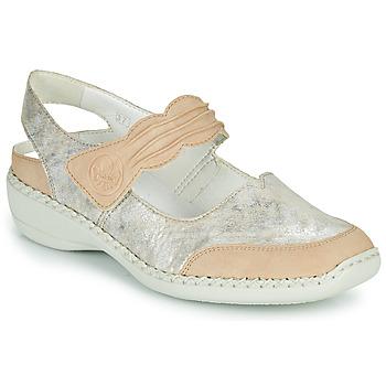 Schuhe Damen Sandalen / Sandaletten Rieker ALINA Silbrig