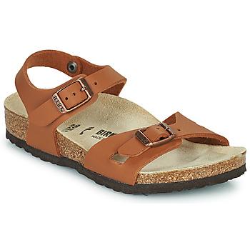 Schuhe Mädchen Sandalen / Sandaletten Birkenstock RIO Braun,