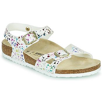 Schuhe Mädchen Sandalen / Sandaletten Birkenstock RIO Weiß