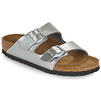 Schuhe Mädchen Pantoffel Birkenstock ARIZONA Silbrig