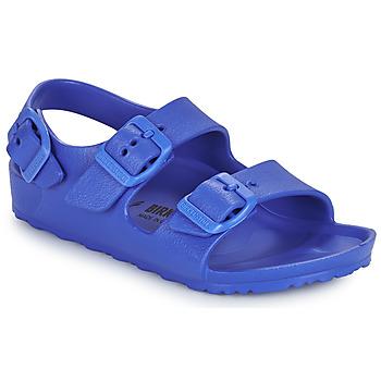Schuhe Jungen Sandalen / Sandaletten Birkenstock MILANO EVA Blau