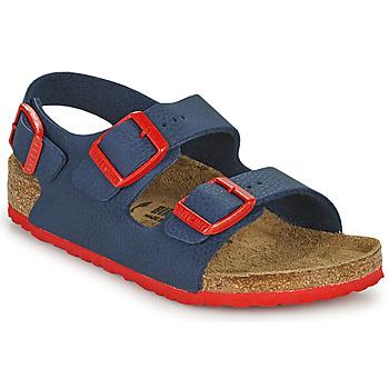 Schuhe Jungen Sandalen / Sandaletten Birkenstock MILANO Blau / Rot