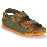 Schuhe Jungen Sandalen / Sandaletten Birkenstock MILANO Khaki / Orange