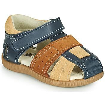 Schuhe Jungen Sandalen / Sandaletten Citrouille et Compagnie OLOSS Blau / Braun,