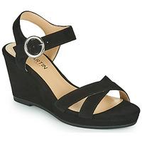 Chaussures Femme Sandales et Nu-pieds JB Martin QUERIDA MTO NOIR DCV/GOMME