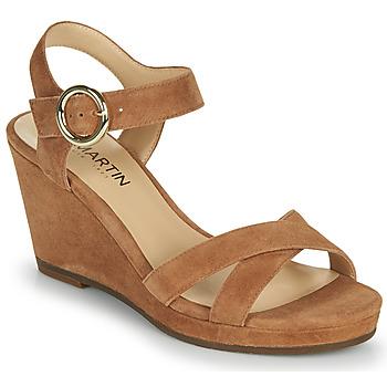 Chaussures Femme Sandales et Nu-pieds JB Martin QUERIDA MTO CAMEL DCV/GOMME