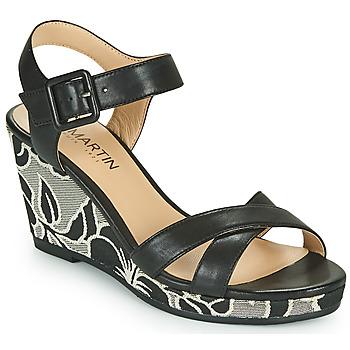 Chaussures Femme Sandales et Nu-pieds JB Martin QUERIDA TNX NOIR -HIBISCUS DCV/GOMME