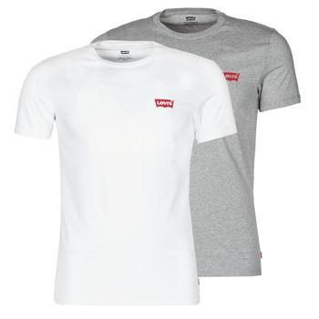 Kleidung Herren T-Shirts Levi's 2PK CREWNECK GRAPHIC Weiß