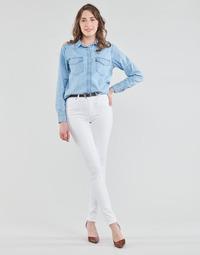 Kleidung Damen Röhrenjeans Levi's 721 HIGH RISE SKINNY Weiß