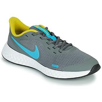 Schuhe Jungen Multisportschuhe Nike REVOLUTION 5 GS Grau / Blau