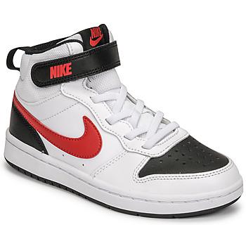 Schuhe Jungen Sneaker Low Nike NIKE COURT BOROUGH MID 2 Weiß / Rot