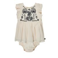 Kleidung Mädchen Kurze Kleider Ikks XS30060-11 Weiß