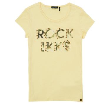Kleidung Mädchen T-Shirts Ikks XS10182-73-J Gelb