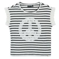 Vêtements Fille T-shirts manches courtes Ikks XS10022-19-C