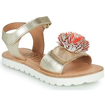 Schuhe Mädchen Sandalen / Sandaletten Mod'8 JELLINE Golden / Koralle