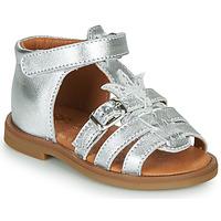Schuhe Mädchen Sandalen / Sandaletten GBB CARETTE Silbrig
