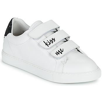 Schuhe Damen Sneaker Low Bons baisers de Paname EDITH KISS ME Weiß