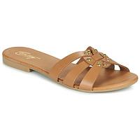 Schuhe Damen Pantoffel Betty London OISO Kamel