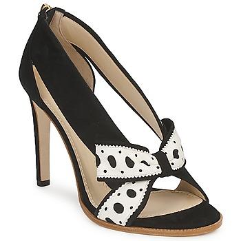 Chaussures Femme Escarpins Moschino DELOS ESCA Noir / Ivoire