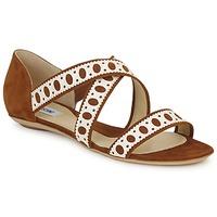 Schuhe Damen Sandalen / Sandaletten Moschino DELOS SAND Kamel