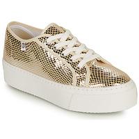Schuhe Damen Sneaker Low Yurban SUPERTELA Golden