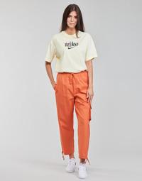 Kleidung Damen Jogginghosen Nike NSICN CLASH PANT CANVAS HR Braun, / Orange