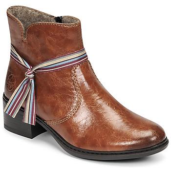 Schuhe Damen Low Boots Rieker  Braun,