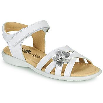 Schuhe Mädchen Sandalen / Sandaletten Citrouille et Compagnie HERTUNE Weiß