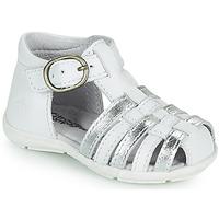 Schuhe Mädchen Sandalen / Sandaletten Citrouille et Compagnie RINE Weiß / Silber
