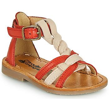 Schuhe Mädchen Sandalen / Sandaletten Citrouille et Compagnie GITANOLO Koralle