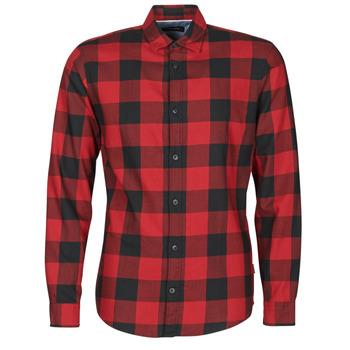 Kleidung Herren Langärmelige Hemden Jack & Jones JJEGINGHAM Rot