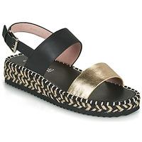 Chaussures Femme Sandales et Nu-pieds Café Noir GRISLI