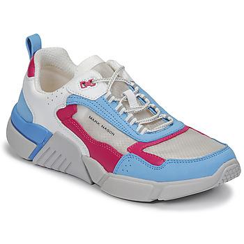 Schuhe Damen Sneaker Low Skechers BLOCK/WEST Weiß / Blau