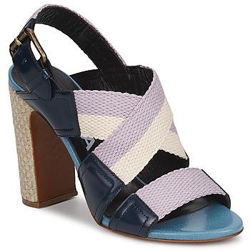 Schuhe Damen Sandalen / Sandaletten Rochas NASTR Schwarz / Violett / Naturfarben