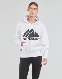 Kleidung Damen Sweatshirts Superdry MOUNTAIN SPORT MONO HOOD Weiß