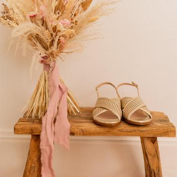 Schuhe Damen Sandalen / Sandaletten Céleste ORANGER Golden