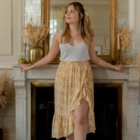 Kleidung Damen Röcke Céleste TOURTERELLE Gelb / Weiß