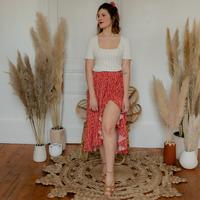 Kleidung Damen Röcke Céleste TOURTERELLE Rot / Bunt
