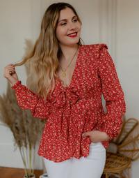 Kleidung Damen Tops / Blusen Céleste ROSSIGNOL Rot / Bunt