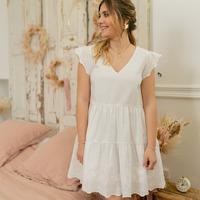 Kleidung Damen Kurze Kleider Céleste DAHLIA Weiß