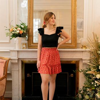 Kleidung Damen Röcke Céleste AZALEE Rot / Bunt