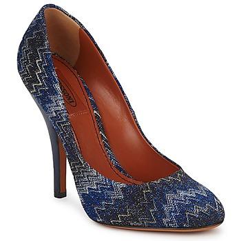 Chaussures Femme Escarpins Missoni VM005 Bleu