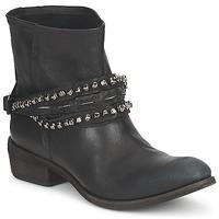 Schuhe Damen Boots Strategia GRONI Schwarz
