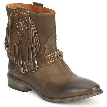 Schuhe Damen Boots Strategia GRINO Kaki