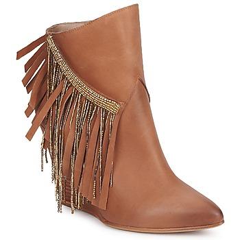 Schuhe Damen Low Boots Strategia FRANGINOU Braun