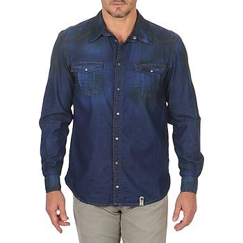 Abbigliamento Uomo Camicie maniche lunghe Freeman T.Porter CORWEND DENIM Blu