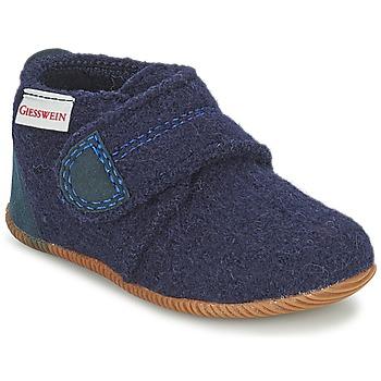 Chaussures Garçon Chaussons Giesswein OBERSTAUFEN Bleu