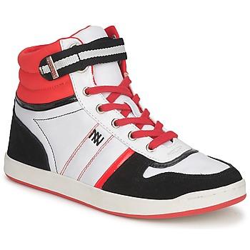Scarpe Donna Sneakers alte Dorotennis STREET LACETS Rosso / Bianco / Nero