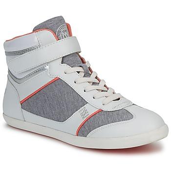 Chaussures Femme Baskets montantes Dorotennis MONTANTE VELCRO Gris